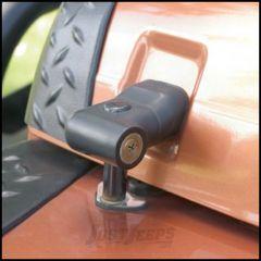 SmittyBilt Locking Hood Catch Kit In Black For 1997-06 Jeep Wrangler TJ & Wrangler Unlimited 7691
