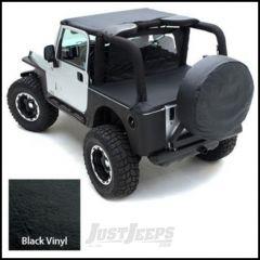 "SmittyBilt Spare Tire Cover For 27""-29"" Tire In Black Crush 772901"