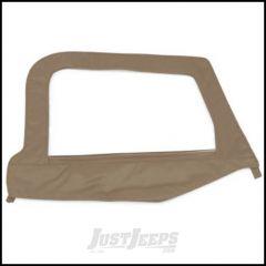 SmittyBilt Soft Upper Door Skin Driver Side With Frame In Spice Denim For 1997-06 Jeep Wrangler TJ & TLJ Unlimited Models 79417