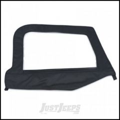 SmittyBilt Soft Upper Door Skin Passenger Side With Frame In Black Denim For 1997-06 Jeep Wrangler TJ & TLJ Unlimited Models 79515
