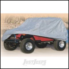 SmittyBilt Complete Jeep Cover With Storage Bag, Lock & Cable In Grey For 1955-06 Jeep Wrangler YJ, TJ & CJ7 803