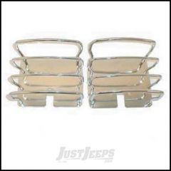SmittyBilt Rear Taillight Guards In Stainless Steel For 1976-06 Jeep Wrangler YJ, TJ & CJ Series 8460