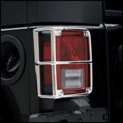 SmittyBilt Rear Taillight Guards In Stainless Steel For 2007+ Jeep Wrangler JK & JK Unlimited Models 8465
