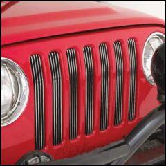 SmittyBilt Billet Grille Inserts Polished For 1997-06 Jeep Wrangler TJ & Wrangler Unlimited 869000