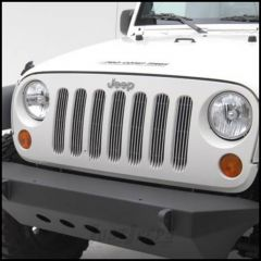 SmittyBilt Billet Grille Inserts Polished For 2007+ Jeep Wrangler JK 2 Door & Unlimited 4 Door Models 878132