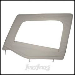 SmittyBilt Soft Upper Door Skin Driver Side With Frame In Grey Denim For 1987-95 Jeep Wrangler YJ 89411