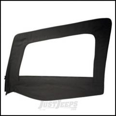 SmittyBilt Soft Upper Door Skin Driver Side With Frame In Black Denim For 1987-95 Jeep Wrangler YJ 89415
