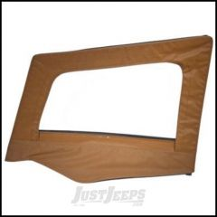 SmittyBilt Soft Upper Door Skin Driver Side With Frame In Spice Denim For 1987-95 Jeep Wrangler YJ 89417