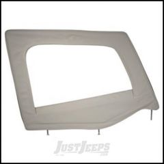 SmittyBilt Soft Upper Door Skin Passenger Side With Frame In Grey Denim For 1987-95 Jeep Wrangler YJ 89511