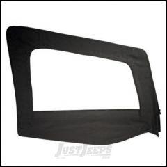 SmittyBilt Soft Upper Door Skin Passenger Side With Frame In Black Denim For 1987-95 Jeep Wrangler YJ 89515