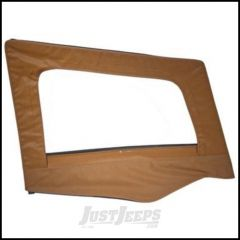 SmittyBilt Soft Upper Door Skin Passenger Side With Frame In Spice Denim For 1987-95 Jeep Wrangler YJ 89517