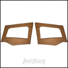 SmittyBilt Soft Upper Door Skins Pair Without Frames In Spice Denim For 1987-95 Jeep Wrangler YJ 89617
