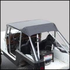 SmittyBilt Standard Brief Top In Black Crush For 1980-91 Jeep Wrangler YJ & CJ7 90701