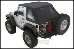 SmittyBilt Bowless Combo Top With Tinted Windows In Black Diamond For 2007-18 Jeep Wrangler JK 2 Door 9073235