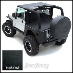 SmittyBilt Strapless Brief Top In Black Crush For 1987-91 Jeep Wrangler YJ 90801