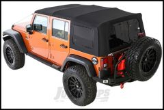 SmittyBilt Premium Replacement Top Skin With Tinted Windows In Black Diamond For 2010+ Jeep Wrangler JK Unlimited 4 Door 9086235