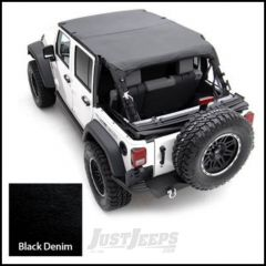 SmittyBilt Strapless Extended Brief Top In Black Denim For 1992-95 Jeep Wrangler YJ 92915