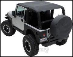 SmittyBilt Strapless Extended Brief Top In Black Denim For 1997-06 Jeep Wrangler TJ 93615