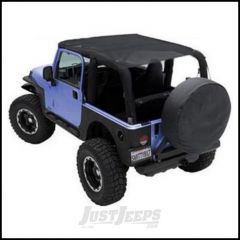 SmittyBilt Extended Brief Top In Mesh For 2007-09 Jeep Wrangler JK 2 Door 94100