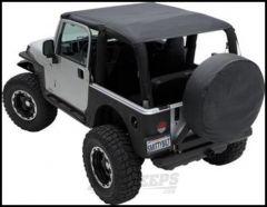 SmittyBilt Extended Brief Top in Black Diamond For 2010-18 Jeep Wrangler JK 2 Door Models 94235