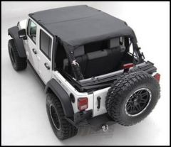 SmittyBilt Strapless Extended Brief Top In Black Diamond For 2010+ Jeep Wrangler JK Unlimited 4 Door 94635