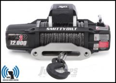 SmittyBilt X2O-12 Gen2 Competition Series Wireless Waterproof Winch With Synthetic Line & Hawse Fairlead Rated For 12,000lbs. 98512