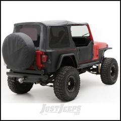 SmittyBilt OE Style Replacement Top With Half Door Uppers & Tinted Windows In Black Denim For 1988-95 Jeep Wrangler YJ With Half Doors Only 9870215