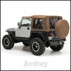 SmittyBilt OE Style Replacement Top With Half Door Uppers & Tinted Windows In Spice Denim For 1997-06 Jeep Wrangler TJ With Half Doors 9970217