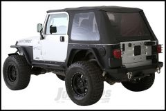 SmittyBilt Bowless Combo Top With Tinted Windows In Black Diamond For 1997-06 Jeep Wrangler TJ Models 9973235