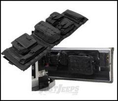 SmittyBilt GEAR Overhead Console & Tailgate Cover Combo Kit In Black For 2007-18 Jeep Wrangler JK 2 Door & Unlimited 4 Door Models GEAROH5