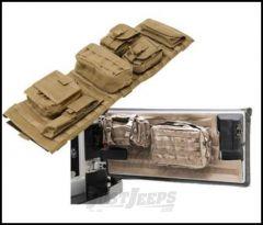 SmittyBilt GEAR Overhead Console & Tailgate Cover Combo Kit In Tan For 2007-18 Jeep Wrangler JK 2 Door & Unlimited 4 Door Models GEAROH6