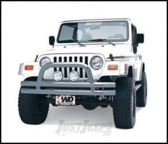 SmittyBilt Front Bumper With Hoop In Stainless Steel For 1976-06 Jeep Wrangler YJ, TJ, CJ Series JB44-FS