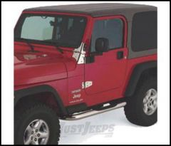 """SmittyBilt Sure Step Side Bars 3"""" In Stainless Steel For 1976-86 Jeep CJ7 JN40-S2S"""