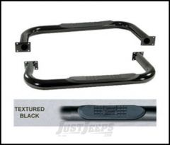 """SmittyBilt Sure Step Side Bars 3"""" In Black Textured Powder Coat For 1976-86 Jeep CJ7 JN40-S2T"""