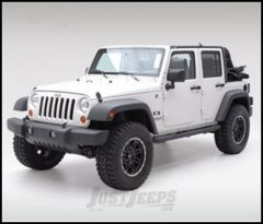 """SmittyBilt Sure Step Side Bar 3"""" With Step Pad In Gloss Black For 2007-18 Jeep Wrangler JK 2 Door JN48-S2B"""