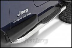 """SmittyBilt Sure Step Side Bar 3"""" With Step Pad In Stainless Steel For 2007-18 Jeep Wrangler JK 2 Door JN48-S2S"""