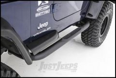 """SmittyBilt Sure Step Side Bar 3"""" With Step Pad In Textured Black For 2007-18 Jeep Wrangler JK 2 Door JN48-S2T"""