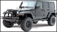 "SmittyBilt Sure Step Side Bar 3"" With Step Pad In Gloss Black For 2007+ Jeep Wrangler JK Unlimited 4 Door JN49-S4B"