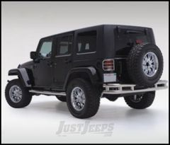 """SmittyBilt Sure Step Side Bar 3"""" With Step Pad In Stainless Steel For 2007+ Jeep Wrangler JK Unlimited 4 Door JN49-S4S"""