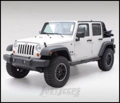 """SmittyBilt Sure Step Side Bar 3"""" With Step Pad In Textured Black For 2007+ Jeep Wrangler JK Unlimited 4 Door JN49-S4T"""