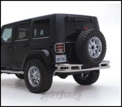SmittyBilt Tubular Rear Bumper Without Hitch In Stainless Steel For 1987-06 Jeep Wrangler YJ & TJ Models RB01-S