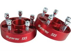 "Synergy MFG Hub Centric Wheel Spacers 5 X 5 & 1.75"" Thick For 2018+ Jeep Gladiator JT & Wrangler JL 2 Door & Unlimited 4 Door Models 8810-02"