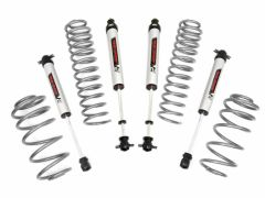 """Rough Country 2.5"""" Suspension Lift with V2 Monotube Shocks Kit for 97-06 Jeep Wrangler TJ w/ 6CYL Engine 65370"""