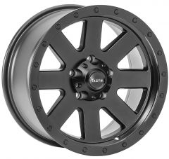 TACTIK T-741 Wheel in Matte Black for 07-20+ Jeep Wrangler JL, JK & Gladiator JT 92615.3000