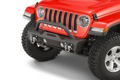 TACTIK Stubby Front Bumper with Hoop for 18+ Jeep Wrangler JL, JLU & 20+ Gladiator JT 12052.0143