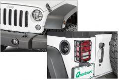 TACTIK 10 Piece Euro Guard Light Set for 07-18 Jeep Wrangler JK 13117JK10P-