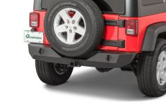 "TACTIK HD Rear Bumper with 2"" Receiver Hitch for 07-18 Jeep Wrangler JK, JKU 12052.0150"