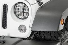 TACTIK Euro Style Headlight Guards for 07-18 Jeep Wrangler JK 13117JKF-