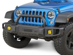 TACTIK Over Rider Hoop in Textured Black for 07-18 Jeep Wrangler JK, JKU with Tactik Front Bumper 12052.0003