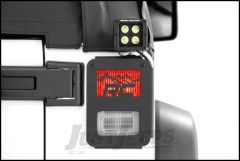 Rough Country Tail Light Covers With RC Mountain Design For 2007-18 Jeep Wrangler JK 2 Door & Unlimited 4 Door Models 1078